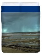 Winter Beach Duvet Cover by Debbie Cundy