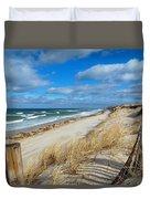 Winter Beach View Duvet Cover