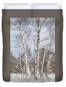 Winter Birch Duvet Cover