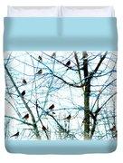 Winter Birds 2 Duvet Cover
