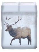 Winter Bull Duvet Cover