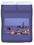 Winter Cityscape Of Utrecht In The Evening 14 Duvet Cover