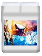 Winter Color Duvet Cover