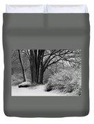 Winter Day - Black And White Duvet Cover