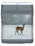 Winter Deer Walk Duvet Cover