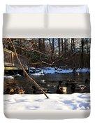 Winter Ducks Duvet Cover