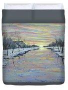 Winter Expression Sunrise Duvet Cover
