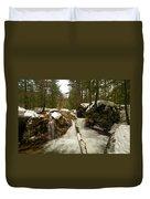 Winter Falls Duvet Cover