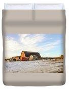 Winter Farm Duvet Cover