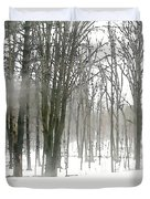 Winter Fog Duvet Cover