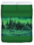 Winter Forest Dream At Dusk Duvet Cover