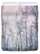 Winter Forest Duvet Cover by Priska Wettstein