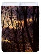 Winter Forest Sunrise Duvet Cover