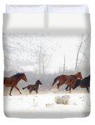 Winter Gallop Duvet Cover