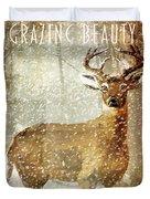 Winter Game Deer Duvet Cover