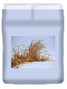 Winter Grasses Duvet Cover