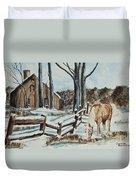 Winter Grazing  Duvet Cover