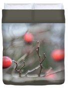 Winter Hawthorn Duvet Cover