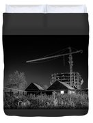 Winter Homes The Crane And The Great Plough Duvet Cover