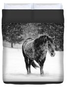 Winter Horse Duvet Cover by Mark Courage