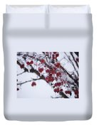 Winter Ice Berries Duvet Cover
