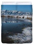 Winter Ice Flows Duvet Cover
