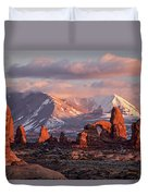 Winter In Arches Np Duvet Cover by Wesley Aston