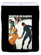 Winter In Davos Duvet Cover