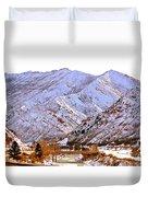 Winter In Grand Junction Duvet Cover