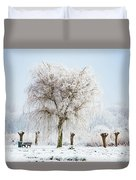 Winter In Holland Duvet Cover