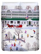 Winter In Jackson New Hampshire Duvet Cover
