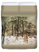 Winter In Kensington Gardens Duvet Cover