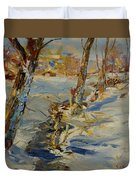 Winter In Mat Duvet Cover