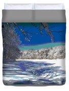 Winter In New England Duvet Cover