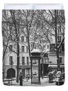 Winter In Paris Duvet Cover