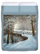 Winter In Pavlovsk Park Duvet Cover
