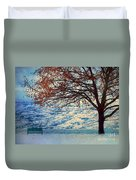 Winter In Peachland Duvet Cover