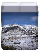 Winter In Silverton Colorado Duvet Cover