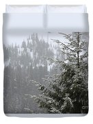 Winter In The Forest Duvet Cover