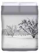 Winter In The Orchard Duvet Cover