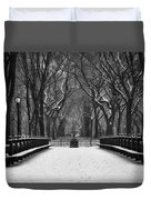 Winter In The Park Duvet Cover