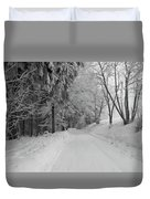 Winter In The Woods Duvet Cover
