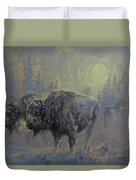 Winter In Yellowstone Duvet Cover