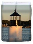 Winter Island Lighthouse At Sunset, Salem, Massachusetts Duvet Cover