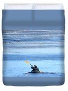 Winter Kayak Duvet Cover