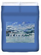 Winter Lake View Duvet Cover
