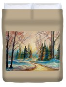 Winter Landscape Knowlton Quebec Duvet Cover