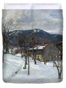 Winter Landscape Near Kutterling Duvet Cover