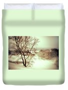 Winter Loneliness Duvet Cover by Jenny Rainbow