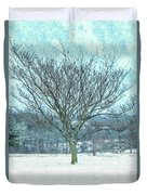 Winter Mimosa Painterly Duvet Cover